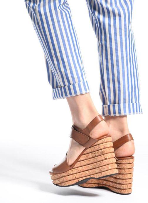 Sandales et nu-pieds Free Lance Eny 7 Sandal Velcro Noir vue bas / vue portée sac