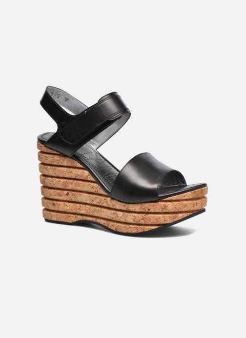 Sandales et nu-pieds Free Lance Eny 7 Sandal Velcro Noir vue détail/paire