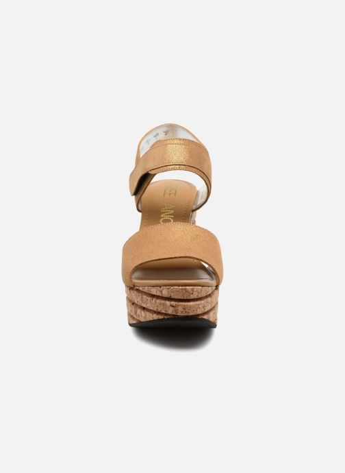 Sandals Free Lance Eny 7 Sandal Velcro Bronze and Gold model view