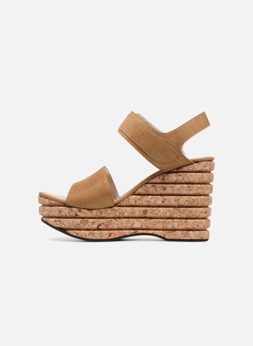 Sandales et nu-pieds Free Lance Eny 7 Sandal Velcro Or et bronze vue face