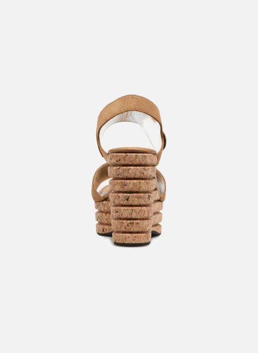 Sandales et nu-pieds Free Lance Eny 7 Sandal Velcro Or et bronze vue droite