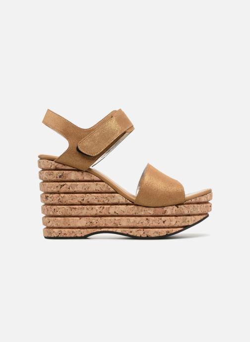 Sandales et nu-pieds Free Lance Eny 7 Sandal Velcro Or et bronze vue derrière
