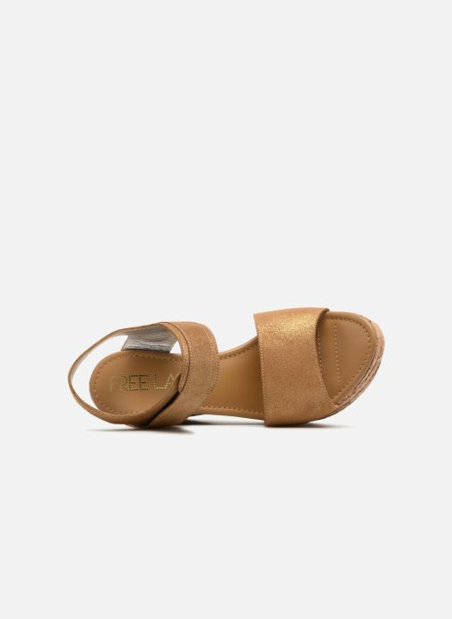 Sandales et nu-pieds Free Lance Eny 7 Sandal Velcro Or et bronze vue gauche