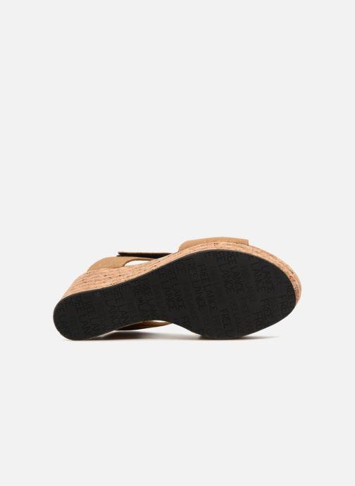 Sandales et nu-pieds Free Lance Eny 7 Sandal Velcro Or et bronze vue haut