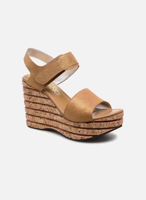 Sandales et nu-pieds Free Lance Eny 7 Sandal Velcro Or et bronze vue détail/paire