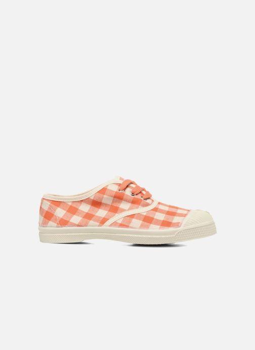 Sneakers Bensimon Tennis Lacets Vichy Lin E Arancione immagine posteriore