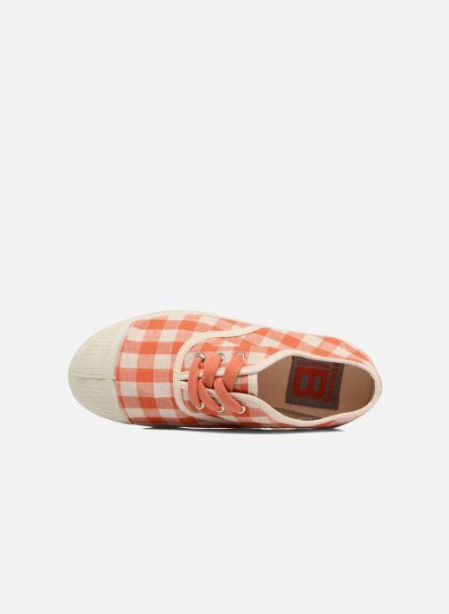 Sneakers Bensimon Tennis Lacets Vichy Lin E Arancione immagine sinistra