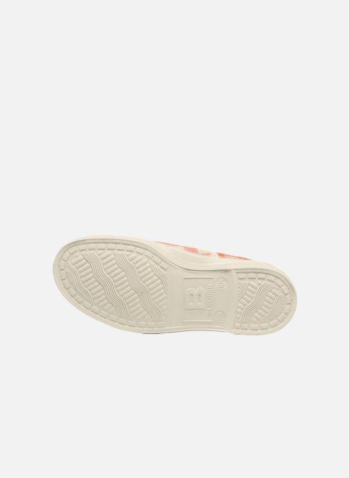 Sneakers Bensimon Tennis Lacets Vichy Lin E Arancione immagine dall'alto