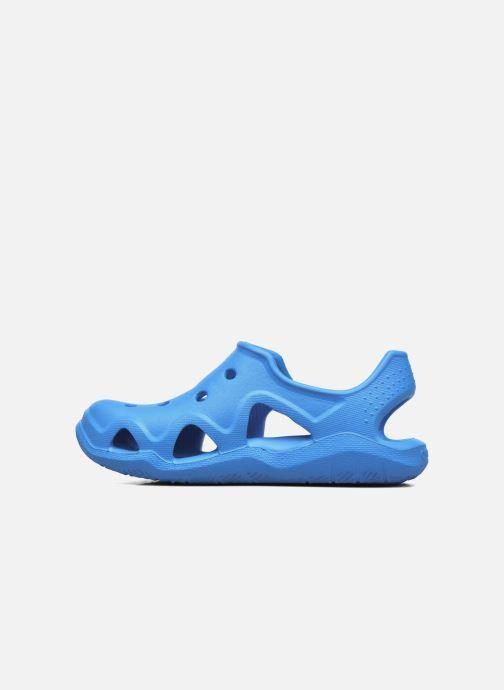 Sandales et nu-pieds Crocs Swiftwater Wave Kids Bleu vue face