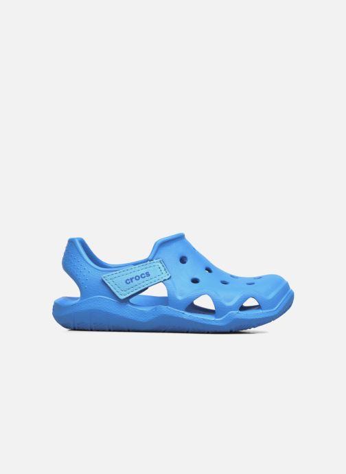 Sandales et nu-pieds Crocs Swiftwater Wave Kids Bleu vue derrière