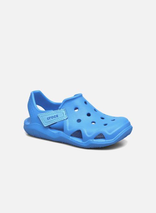 Sandales et nu-pieds Crocs Swiftwater Wave Kids Bleu vue détail/paire