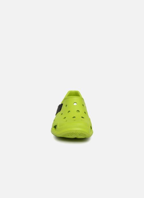 Sandales et nu-pieds Crocs Swiftwater Wave Kids Vert vue portées chaussures