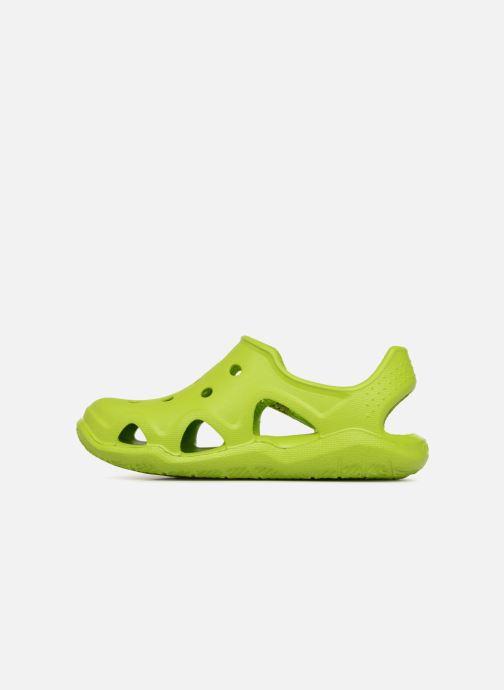 Sandales et nu-pieds Crocs Swiftwater Wave Kids Vert vue face