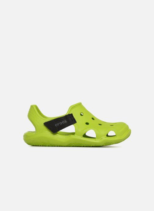 Sandales et nu-pieds Crocs Swiftwater Wave Kids Vert vue derrière