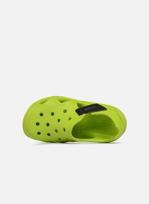 Sandales et nu-pieds Crocs Swiftwater Wave Kids Vert vue gauche