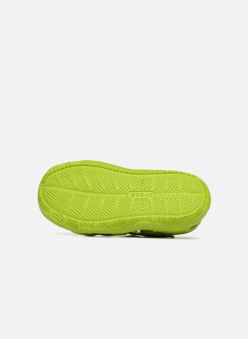 Sandales et nu-pieds Crocs Swiftwater Wave Kids Vert vue haut