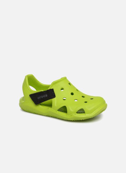 Sandales et nu-pieds Crocs Swiftwater Wave Kids Vert vue détail/paire