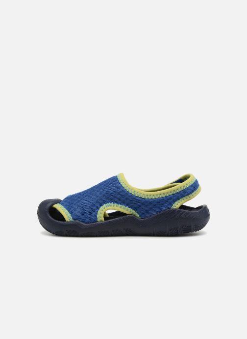Sandales et nu-pieds Crocs Swiftwater Sandal Kids Bleu vue face
