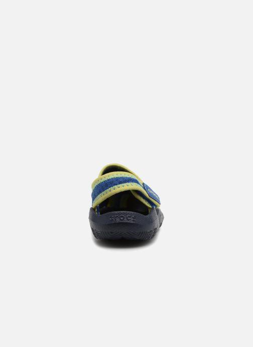 Sandales et nu-pieds Crocs Swiftwater Sandal Kids Bleu vue droite