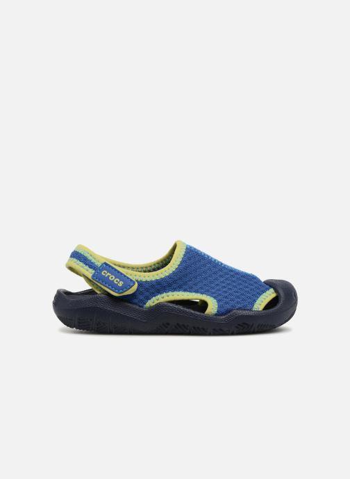 Sandales et nu-pieds Crocs Swiftwater Sandal Kids Bleu vue derrière