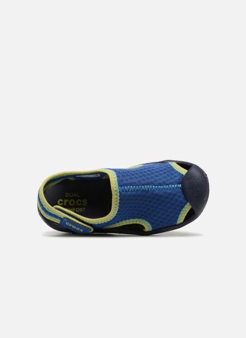 Sandales et nu-pieds Crocs Swiftwater Sandal Kids Bleu vue gauche
