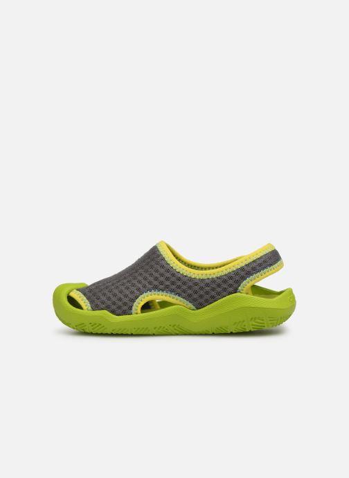 Sandalias Crocs Swiftwater Sandal Kids Verde vista de frente