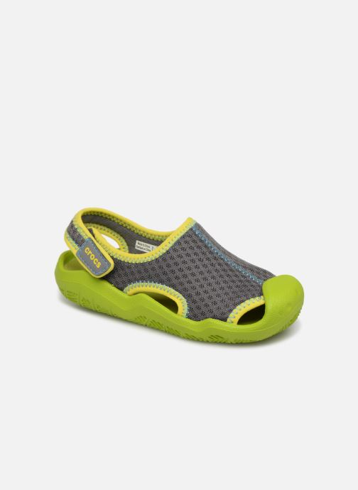 Sandalias Crocs Swiftwater Sandal Kids Verde vista de detalle / par