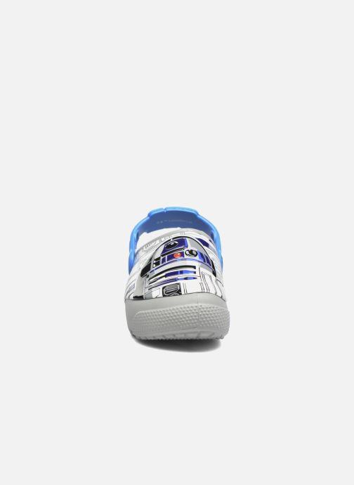 Sandali e scarpe aperte Crocs Crocs Funlab Lights R2D2 Azzurro modello indossato