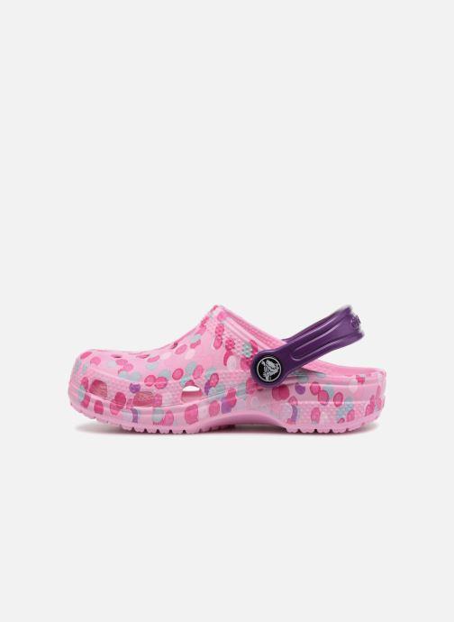 Sandales et nu-pieds Crocs Classic Clog Graphic Kids Rose vue face