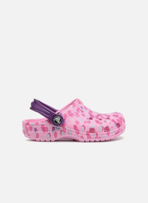 Sandales et nu-pieds Crocs Classic Clog Graphic Kids Rose vue derrière