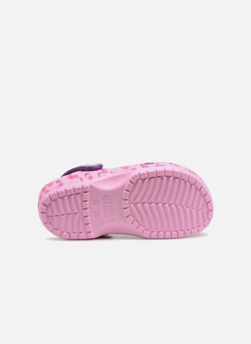 Sandales et nu-pieds Crocs Classic Clog Graphic Kids Rose vue haut