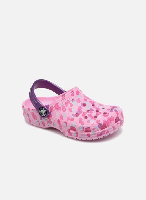 Sandales et nu-pieds Crocs Classic Clog Graphic Kids Rose vue détail/paire