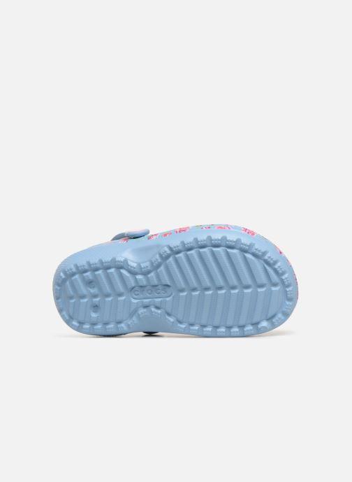 Sandales et nu-pieds Crocs Classic Clog Graphic Kids Bleu vue haut