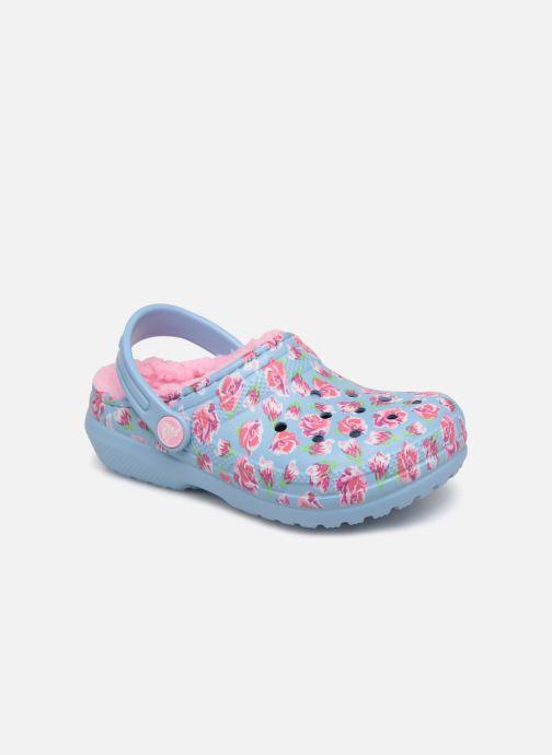 Sandales et nu-pieds Crocs Classic Clog Graphic Kids Bleu vue détail/paire