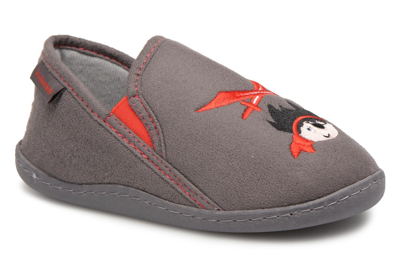 Hjemmesko Isotoner Mocassin Suédine E Grå detaljeret billede af skoene