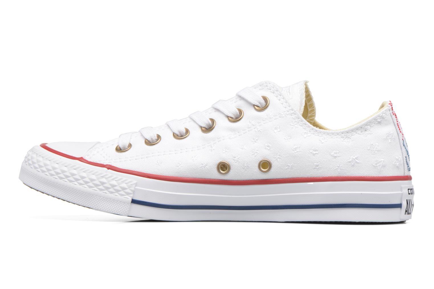Baskets Converse Chuck Taylor All Star Ox Americana Embroidery Blanc vue face