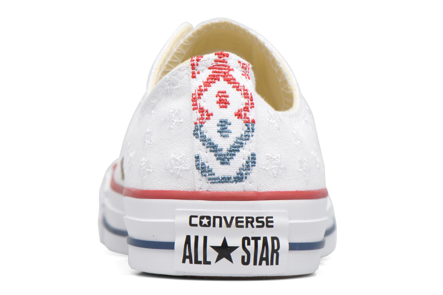 Baskets Converse Chuck Taylor All Star Ox Americana Embroidery Blanc vue droite