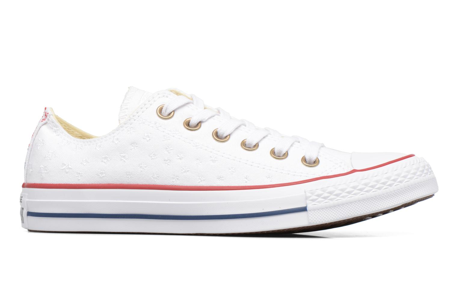 Baskets Converse Chuck Taylor All Star Ox Americana Embroidery Blanc vue derrière