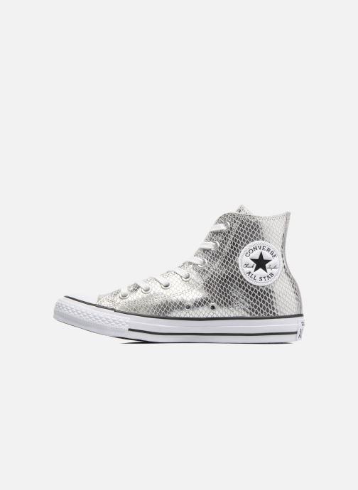 Taylor All black Star Silver Leather white Metallic Chuck Converse Hi Snake MUzVpS