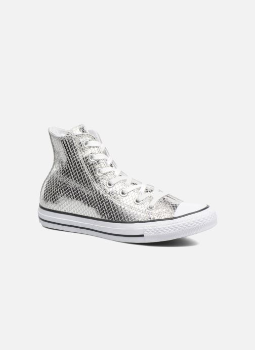 05ad521d0fc Converse Chuck Taylor All Star Hi Metallic Snake Leather (Silver ...