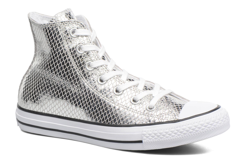 Silver Star All Hi Snake Converse Chuck white Leather Taylor Metallic black 1Px88q