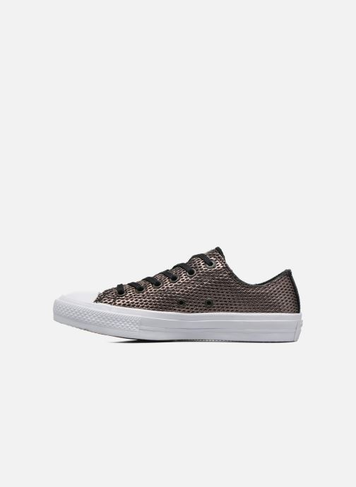 Baskets Converse Chuck Taylor All Star II Ox Perf Metallic Leather Noir vue face