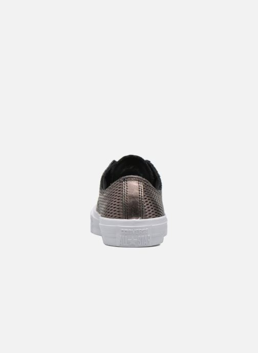 Baskets Converse Chuck Taylor All Star II Ox Perf Metallic Leather Noir vue droite