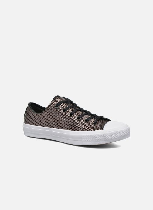 Baskets Converse Chuck Taylor All Star II Ox Perf Metallic Leather Noir vue détail/paire