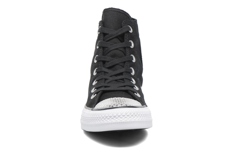 Baskets Converse Chuck Taylor All Star Hi Metallic Toecap Noir vue portées chaussures