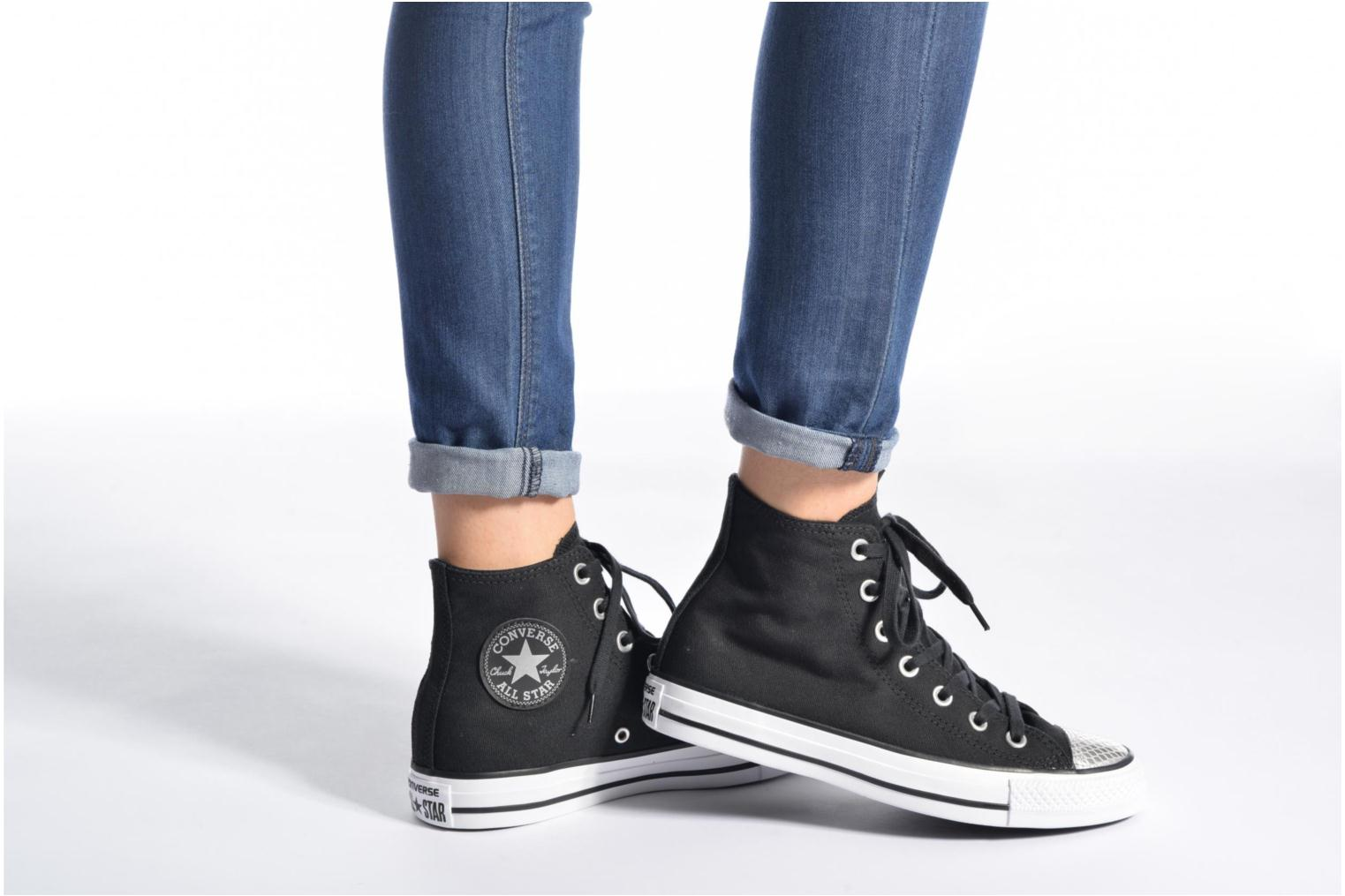 Sneakers Converse Chuck Taylor All Star Hi Metallic Toecap Wit onder