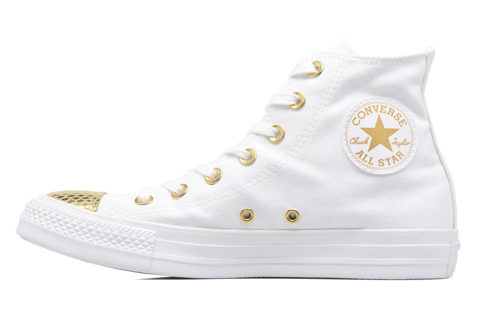 Sneakers Converse Chuck Taylor All Star Hi Metallic Toecap Wit voorkant