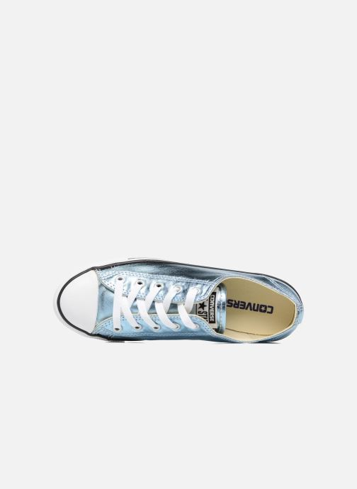 Trainers Converse Chuck Taylor All Star Dainty Ox Metallics Blue view from the left