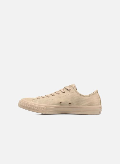 Sneakers Converse Chuck Taylor All Star II Ox Lux Leather Beige se forfra