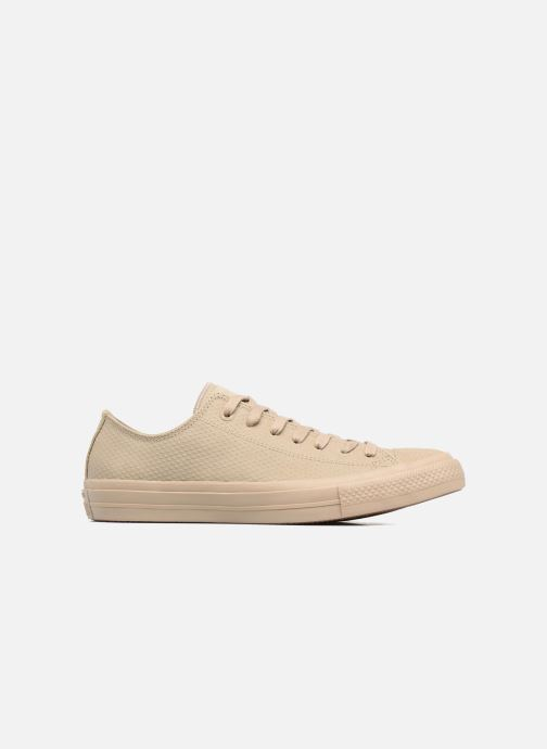 Baskets Converse Chuck Taylor All Star II Ox Lux Leather Beige vue derrière